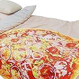 Admitrack Onion Pizza Wrap Blanket,Burrito Round Wrap Blanket,Tortilla Throw Blanket,Novelty Food...