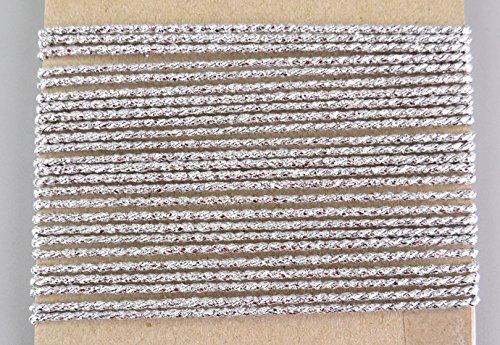 Kordel Silber 5 m x 2 mm (0,76€/m) Schnur Kordelband Lurexkordel Dekoband Geschenkband Drehkordel ohne Draht Weihnachten