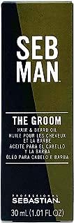 SEB MAN The Groom by Sebastian, Men's Hair & Beard Oil, 1 oz.