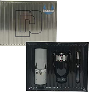 paco rabbane Invictus Legend For Men Eau De Parfum, 100 ml+10 ml Travel Spray+150 ml Deodorant Set