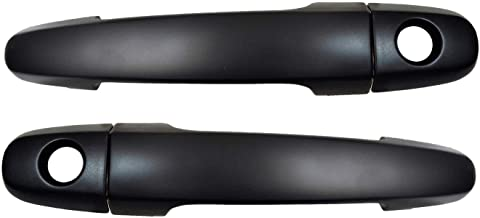 Eynpire 8066 Exterior Outside Outer Smooth Black Door Handle Front Left//Right Rear Left//Right Set of 4 with Keyhole
