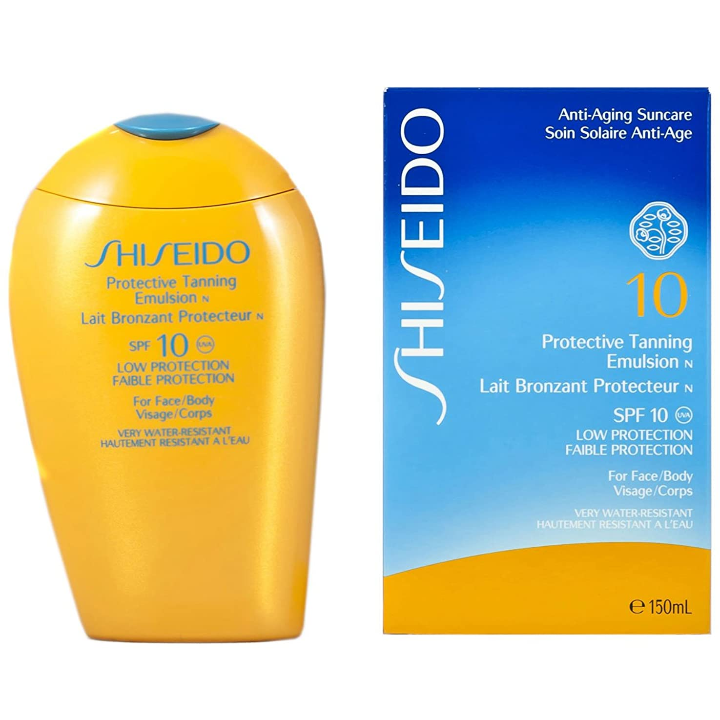動的機転有効な資生堂 Protective Tanning Emulsion N SPF 10 (For Face & Body) 150ml/5oz並行輸入品