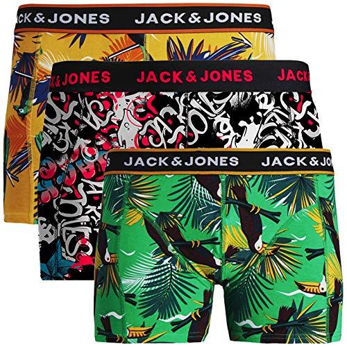 JACK & JONES Herren Boxershorts 3er Pack Trunks Shorts Baumwoll Mix Unterhose Core S M L XL XXL (L, 3er @4)