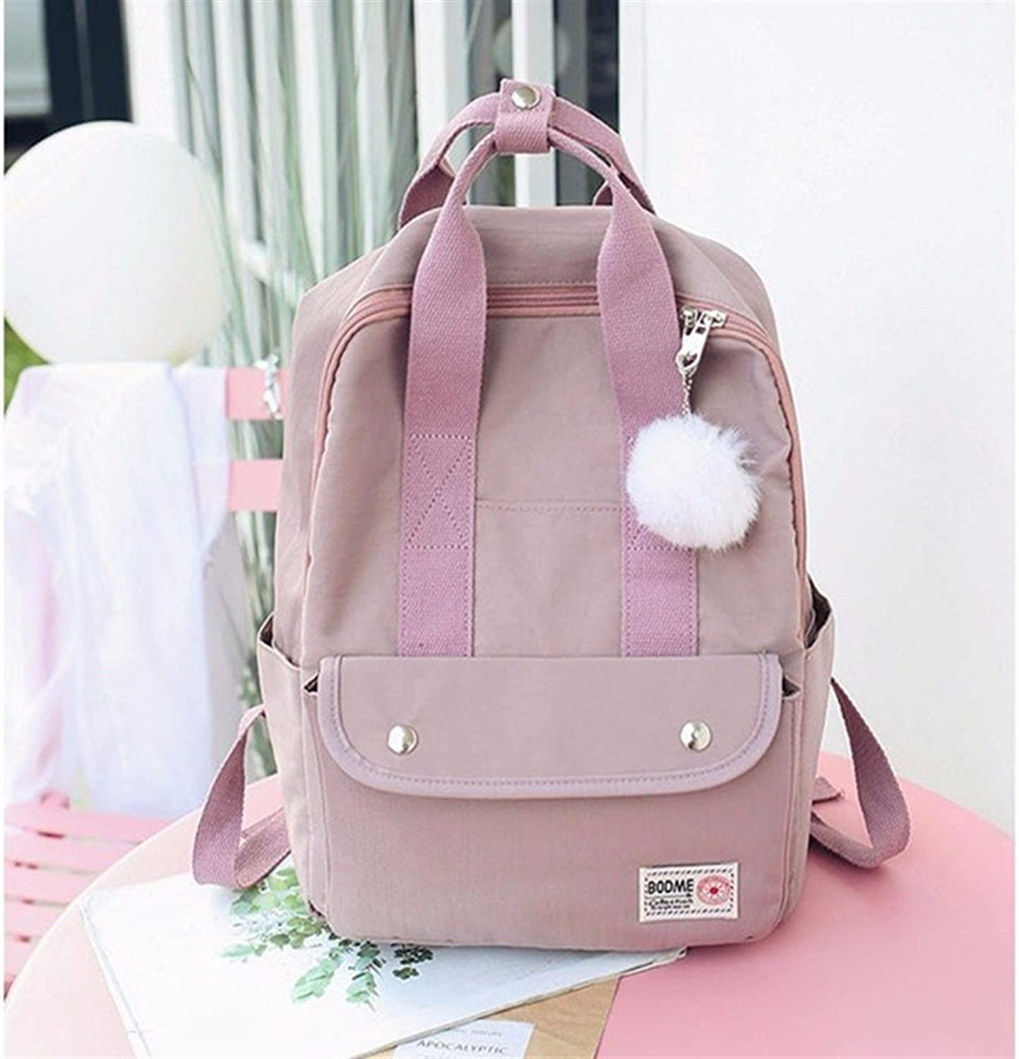 Leng QL Personality Backpacks Fashion Canvas Rucksack Student Laptop Schoolbag Leisure Backpack