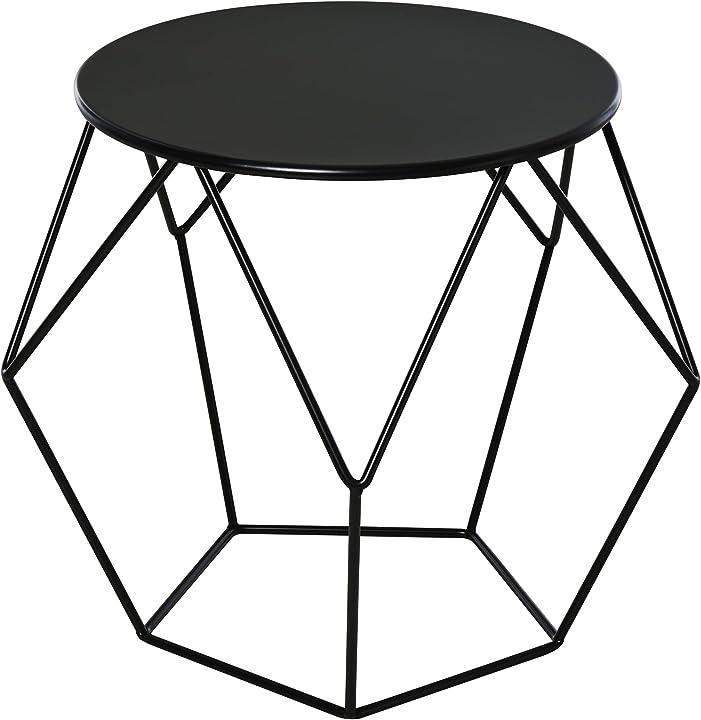 Tavolino da caffè salotto design nordico minimalista homcom acciaio 54x54x44cm IT833-5640631