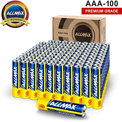 Allmax AAA Maximum Power Alkaline Batteries (100 Count Bulk Pack) – Ultra Long-Lasting Triple A Battery, 10-Year Shelf Life, Leak-Proof, Device Compatible – Powered by EnergyCircle Technology(1.5V)