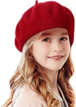 Bonaweite French Wool Berets Hat Classic Fashion Warm Beanie Cap for Girls