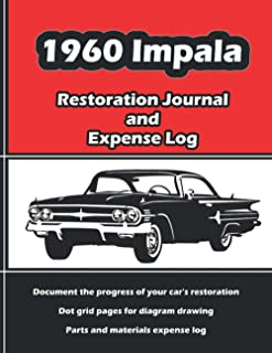 1960 IMPALA Restoration Journal and Expense Log: Vintage car restorers and collectors love documentation. Keep accurate, i...