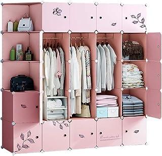 Armoire Peu encombrante Stockage Multifonction Robuste en Plastique Organisateur étagères en Plastique Vêtements Placard d...