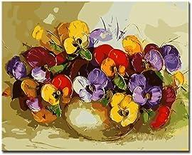 Pintura Bricolaje Por Números Kits Para Colorear Dibujo Lienzo Abstracto Colorido Polilla O Niños Flor de aceite Imágenes Decoración para el hogar Arte de la pared -40x50cm Con Enmarcado