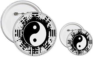 Lot de 8 épingles à motif Taiji Yin-Yang en Chine