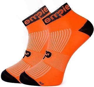 Calcetines de deporte con COOLMAX© y SIN COSTURAS, para Running, Ciclismo, triatlón, Fitness, Crossfit o uso diario (Hombre y Mujer). Fabricados en EU