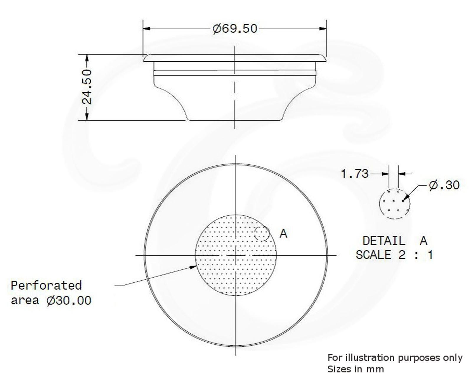 Canasta de repuesto para portafiltros Para expreso sencillo 7 g GAGGIA 58mm EDESIA ESPRESS