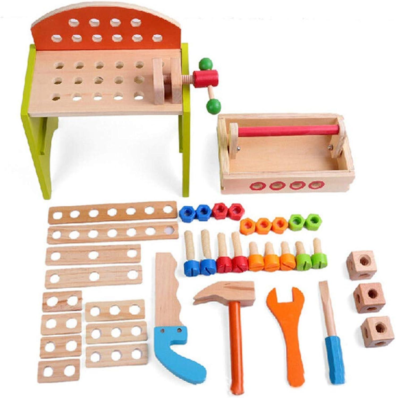 Gububi Gububi Gububi DIY Tischler Toy Building der mehrfarbigen hölzernen Werkzeuge und tragbarer Multi Werkzeug-Tabelle B07MQ9CNTM   Hochwertige Produkte  18007e