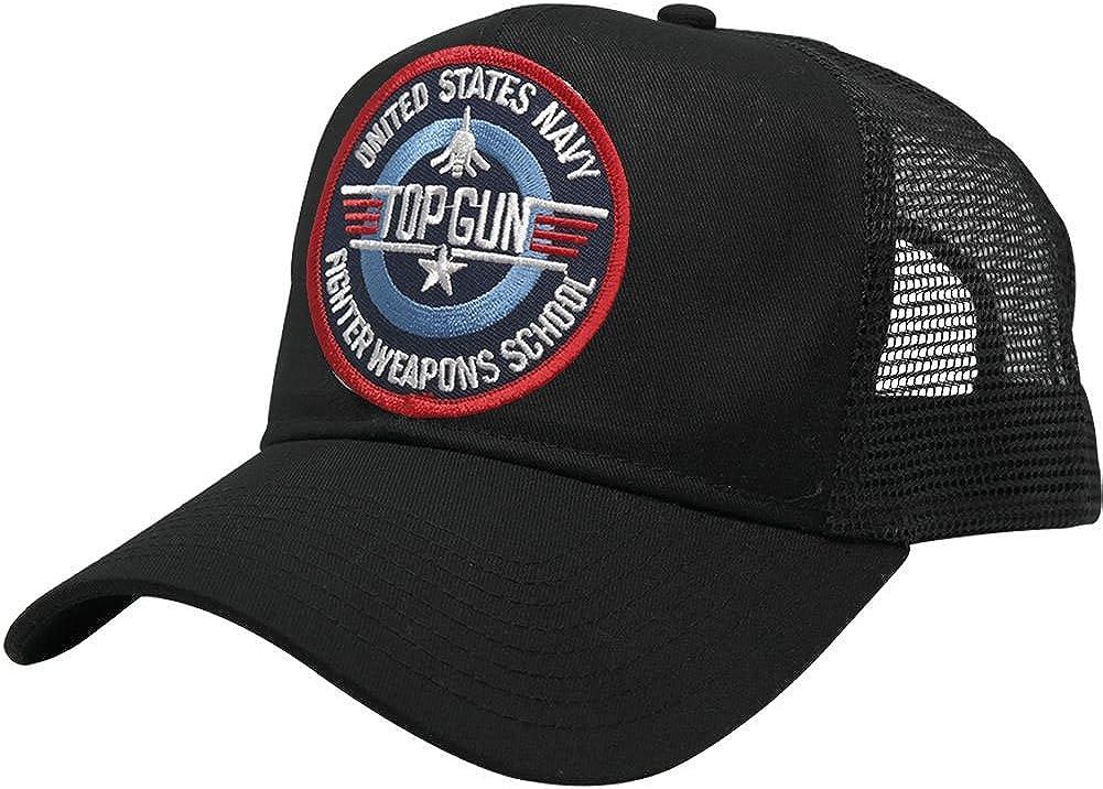 US Navy TOP Gun Patch Snapback Trucker Mesh Cap