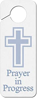 Graphics and More Prayer in Progress Religious Cross Plastic Door Knob Hanger Sign