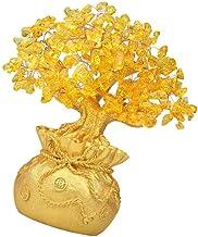CLISPEED Crystal Money Tree Feng Shui Citrine Quartz Crystal Bonsai Figurine Statue Gemstone Tree Reiki Chakra Healing Dec...