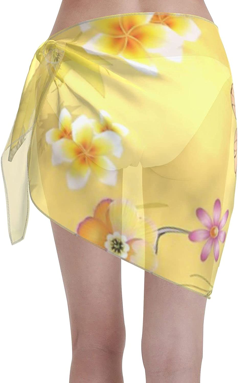 2053 pants Imaginary Jungle 5 Women Chiffon Beach Cover ups Beach Swimsuit Wrap Skirt wrap Bathing Suits for Women