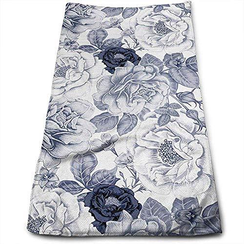 Bert-Collins Towel Printemps Roses Bourgeons Feuilles Fleurs Personnalité Amusant Motif Visage Serviettes Superfine Fibre Super Absorbant Doux Serviettes De Gym
