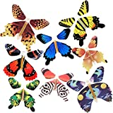 RINHOO 2-100Pcs Magic Fairy Flying in The Book/Card Butterfly Rubber Band Powered Wind Up Butterfly Toy Great Surprise Wedding Birthday Gift (20pcs)