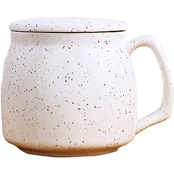 Tea Fort/é KATI Tazza da t/è in ceramica con infusore e tappo NERO teiera per t/è in foglie