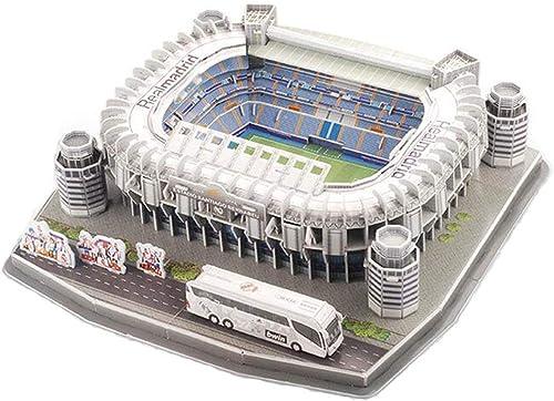 ventas en línea de venta TKFY Copa del Mundo de Montar Jigsaw Puzzle Bernabeustadium 3D 3D 3D Modelo de los Aficionaños al fútbol Regaños Juguetes para Niños para la Inteligencia de los Niños en Desarrollo  alta calidad general