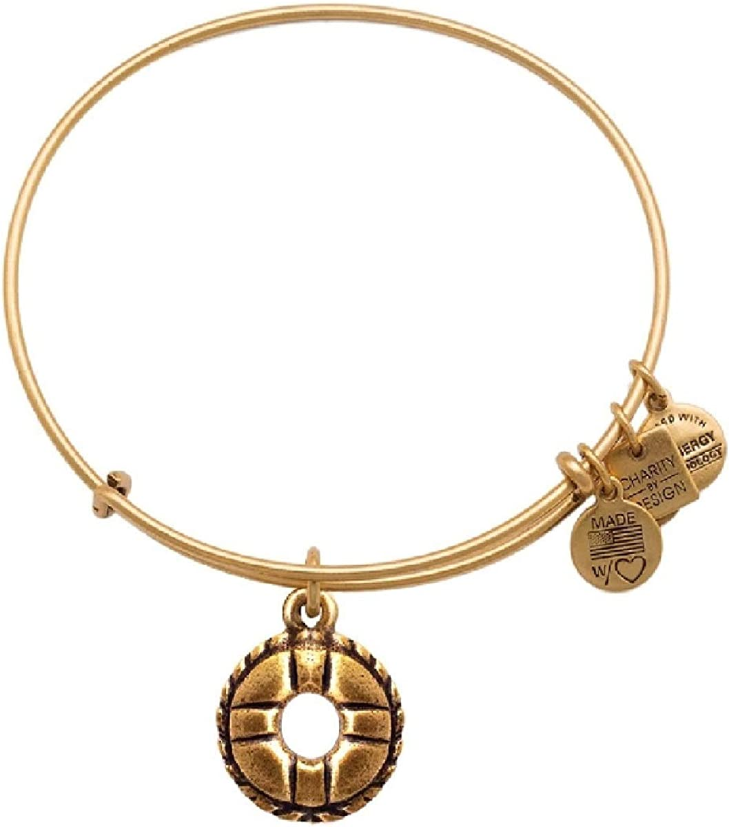Alex and Ani Life Preserver Charm Bangle Rafaelian Gold Finish Bracelet CBD14LPRG
