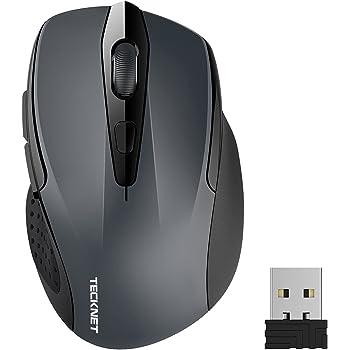 TECKNET PRO Mouse Senza Fili, 2600DPI, Durata delle batterie di 24 Mesi, 2.4G