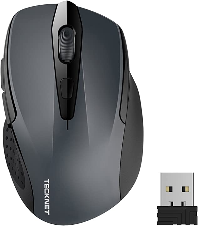 Mouse senza fili, 2600dpi, durata delle batterie di 24 mesi, 2.4g tecknet pro 79594