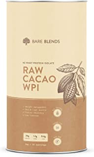 Bare Blends - Natural Whey Protein Isolate & Organic Raw Cacao | WPI | Chocolate Whey Protein Powder | Gluten Free | non-G...