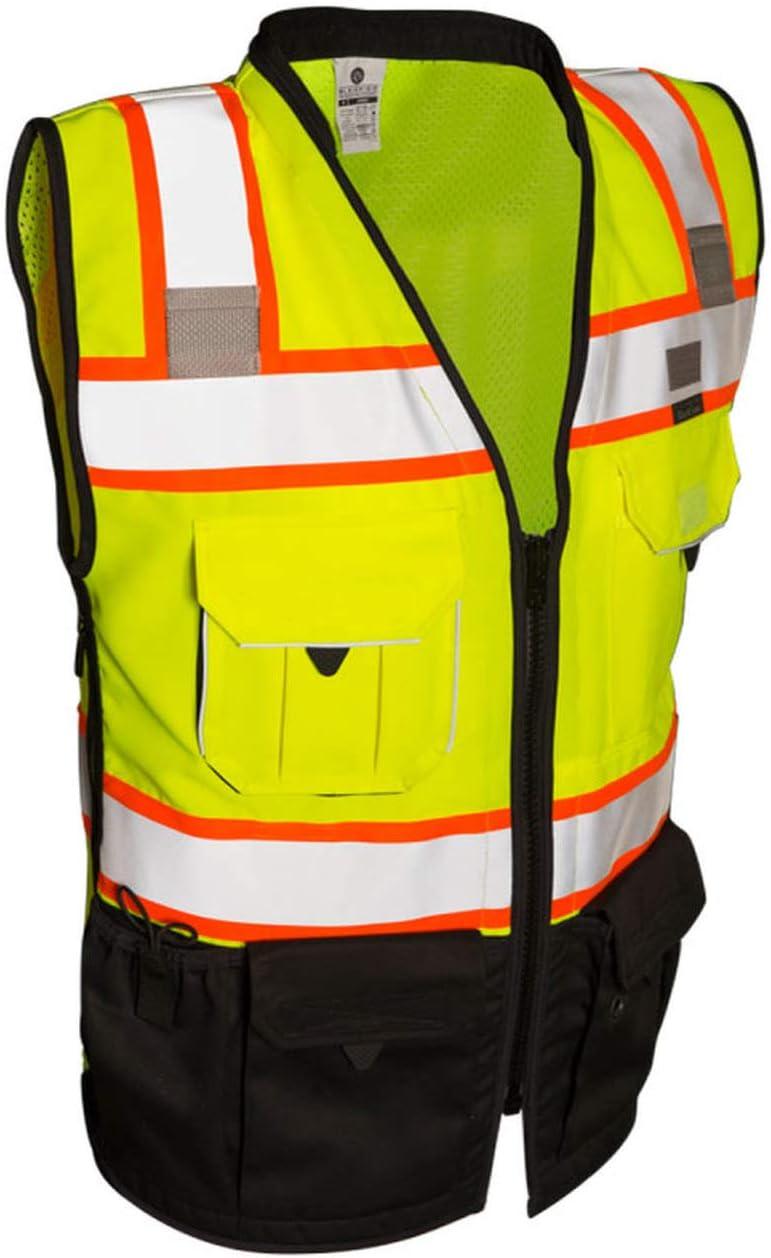 ML Kishigo - Surprise price Premium Black Super beauty product restock quality top! Series Size: Lime Sm Vest Surveyors