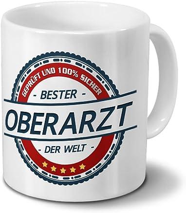 Preisvergleich für Tasse mit Beruf Oberarzt - Motiv Berufe - Kaffeebecher, Mug, Becher, Kaffeetasse - Farbe Weiß
