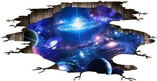 Quanhaigou Blue Purple Galaxy Wall Decals, Removable Sticker,The Art Magic 3D Milky Way Dreamscape Home Decor