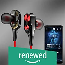 (Renewed) PTron Boom 2 4D Earphone Deep Bass Stereo Sport Wired Headphone with 3.5mm Jack for All Smartphones (Black/Red)