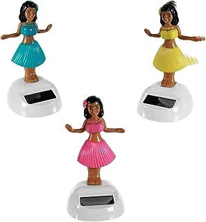 Figura móvil solar, rana con corona, oso de peluche, búho, flores, flores Mini, girasol, mariposa, esqueleto, pingüino, para ventanas, coches, oficinas, escritorios,..., Hula-Girl