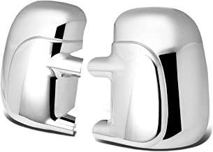 For Ford F-250 Super Duty Pair of Exterior Side Door Mirror Covers (Chrome)