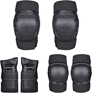 comprar comparacion CXBHB Conjunto de Protector de Rodilla para Adulto Protector de patín de Bicicleta Patín de Patinaje sobre Ruedas Equipo d...