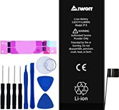 AIWOIT Battery for iPhone 8, 1821mAh Full Capacity 0 Cycle Replacement Battery with Repair Tool Kit, Adhesive Strips and Instructions, 2-Year Warranty