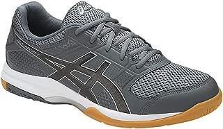 ASICS Gel Rocket 8 - Mens Indoor Court Shoes - Carbon/Black/Silver-Non Marking Shoes