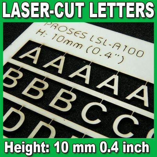 Proses LSL-A100 Lettres Découpées au Laser 10mm (1/2.5 inch)