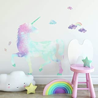 RoomMates Galaxy Unicorn Peel And Stick Giant Wall Decal With Glitter