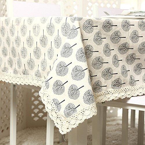 Petits arbres Coton et lin dentelle Nappe Multifonction Serviette de couverture , 140x140cm