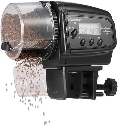 Anself LCD Automatic Fish Feeder Aquarium Tank Auto Food Timer Feeding Dispenser Adjustable Outlet (type1)