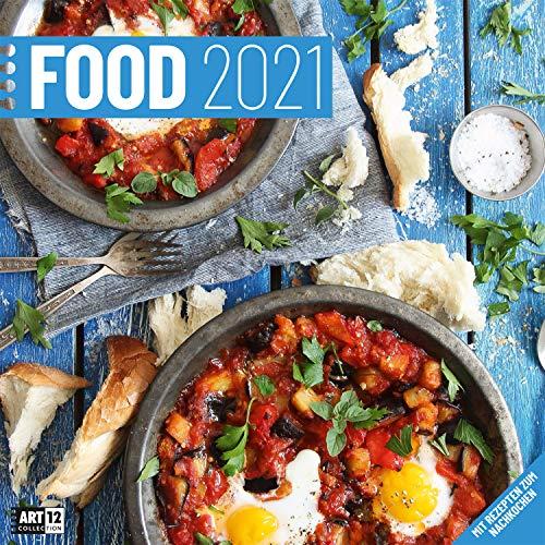 Food 2021, Wandkalender / Broschürenkalender im Hochformat (aufgeklappt 30x60 cm) - Kulinarischer Kalender mit Monatskalendarium zum Eintragen
