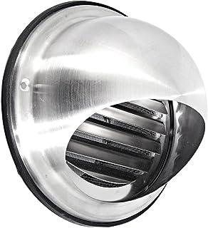 Intelmann Edelstahl Wetterschutzgitter Durchmesser 100 Kugelform  Insektenschutzgitter 100 125 150 200