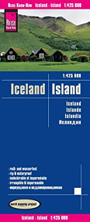 Reise KnowHow Landkarte Island Iceland 1425000 world apping project by Reise Know-How Verlag Peter Rump