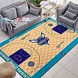 CXJC Multicolores Tapis for la NBA de Basket-Ball Lovers Magic/Tonnerre / / Jazz/Piston/Wasp Accueil Logo Tapis de Sol, Matériel Polyester, Lavable, No Fade, Convient for Occasions intérieur Div