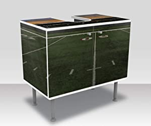 wandmotiv24 Bathroom cabinet American Football Stadium Design cabinet bathroom M0930Vanity cabinet Complete gluing