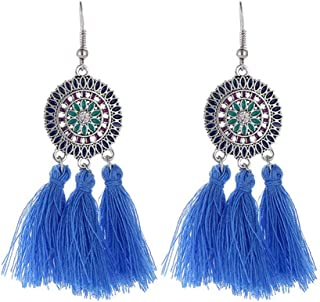 Alloy Ring Sunflower Tassels Dangle Female Eardrop Ear Hook Luxury Ear Pendants Ladies Earbob Female Ear Jewelry