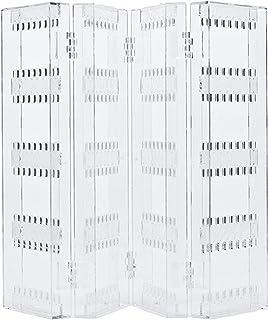 Provide The Best 36 accoppiamenti 72 Orecchini Hole Telaio in plastica del banco di Mostra della cremagliera L dellorecchio di Figura della Vite prigioniera del Supporto dei monili Organizer